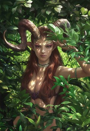 Fantasy Art: Bariaur in the Forest - 2D Digital, FantasyCoolvibe – Digital Art Fantasy Art by Yuming Yin, Singapore.