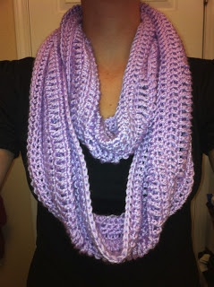 Infinity scarf (made with Caron Simply Soft)