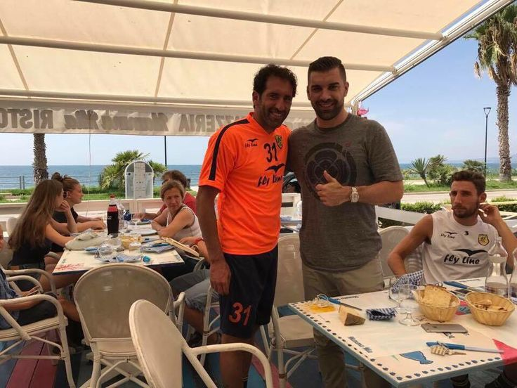 Juve Stabia, l'agente Fifa Andrea Cattoli a colloquio con mister Caserta