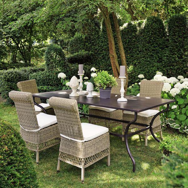 Table de jardin en fer ... - Alpilles