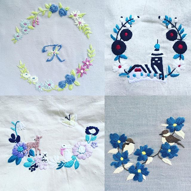 西荻窪の刺繍教室『アンナとラパン』参加者さんの作品。 大作が!☺️素晴らしいです☆ ・ ・ #embroideryart #刺繍 #embroidery…