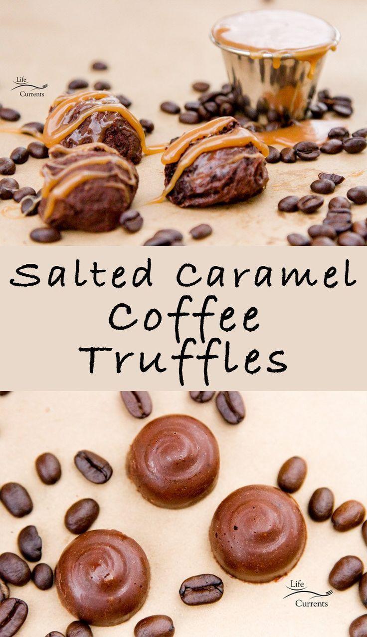 Salted Caramel Coffee Truffles