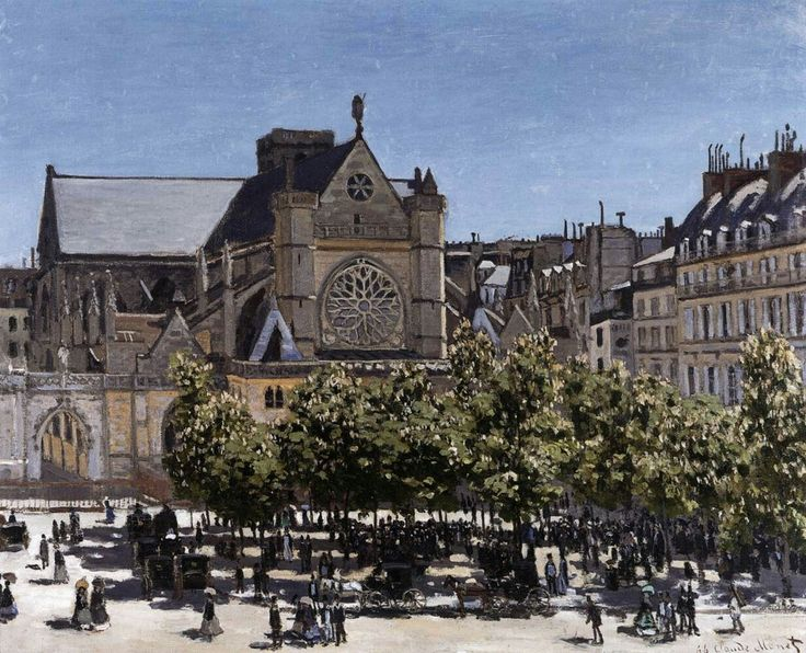 The Church of Saint-Germain-l'Auxerrois 1867 Oil on canvas, 79 x 98 cm Nationalgalerie, Berlin