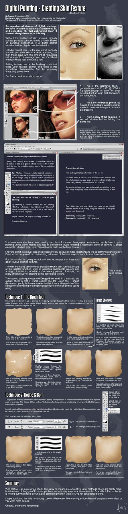 ::Painting Skin Textures:: by =BikerScout on deviantART