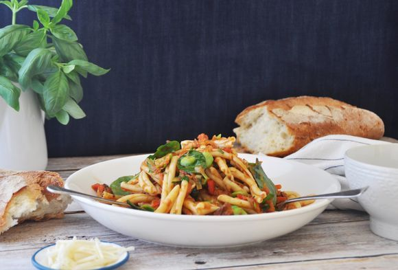 Casarecce with Vegetable Bolognese - Maggie Beer