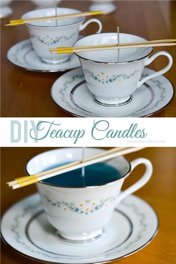 Nifty Thrifty Makeover #2: Spark new life into vintage teacups by turning them into handcrafted candles! They are beautiful on display and make delightful gifts for any occasion.
