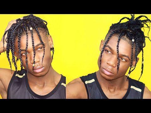 Box Braids Tutorial Travis Scott Lil Yachty Inspired Youtube Mens Braids Hairstyles Cool Braid Hairstyles Braids For Long Hair