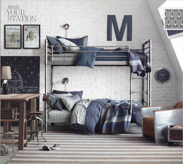 industrial loft bunk bed from Restoration Gardware Baby