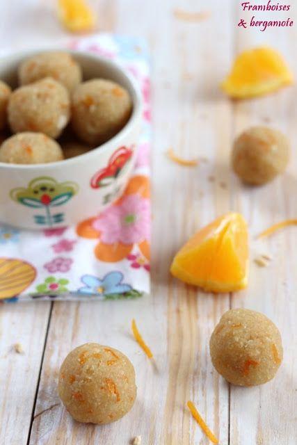 Framboises & bergamote: Truffes orange et gingembre