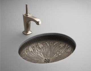 Art Nouveau under mounted sink