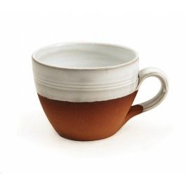 """""""Great for a latte!!"""" Review on stephenpearce.com:  """"I have been collecting the Classic terracotta range for over 30 years and was delighted to add a couple of these cup mugs to my collection. Every weekend my husband and I enjoy a delicious latte or cappuccino from our Nespresso coffee maker in our wonderful Stephen Pearce mugs. They are a perfect fit for the espresso pour and also the long pour. Love, love, love them!! Thank you Stephen Pearce :)"""""""