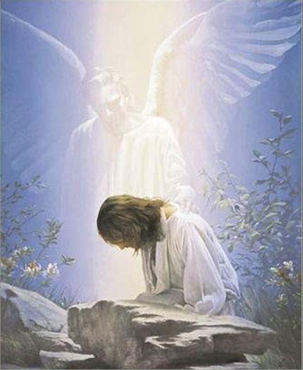 jesus in prayer garden