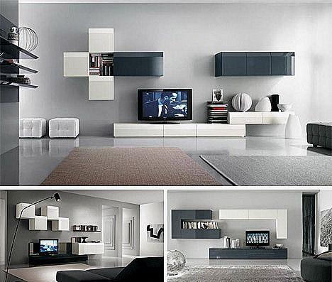 Muebles para salones peque os modernos for Salones modernos pequenos