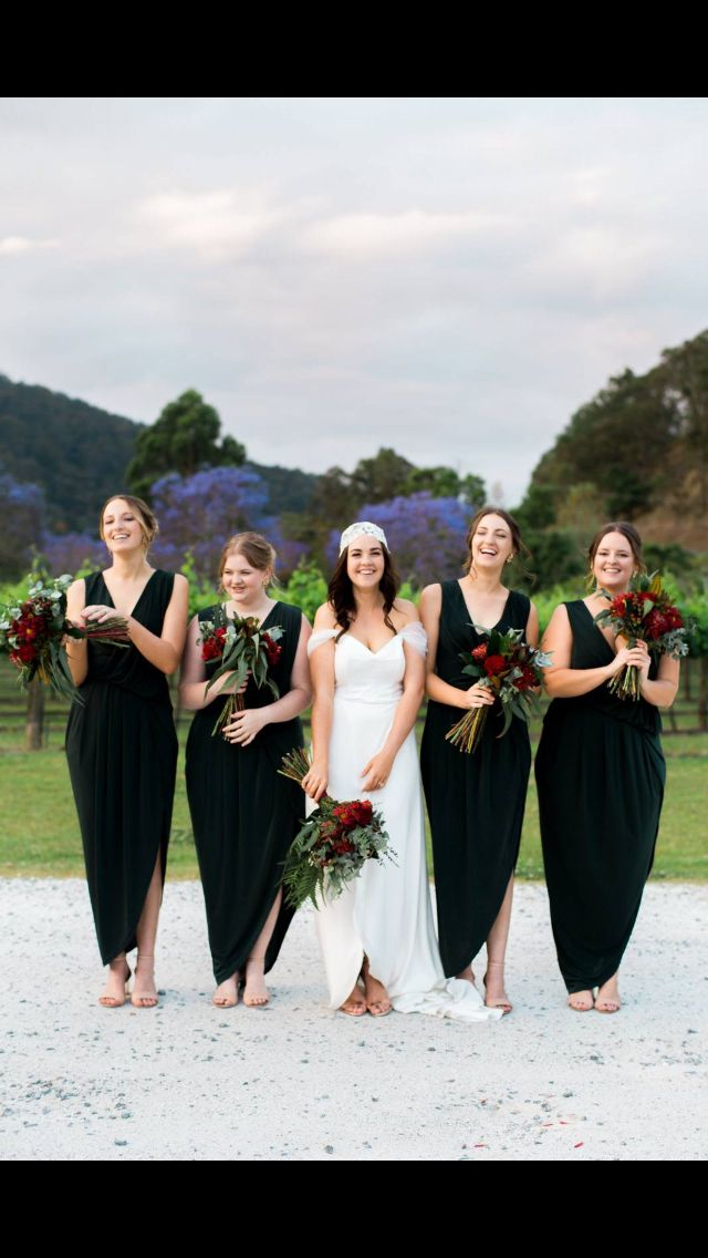 Green Bridesmaids.