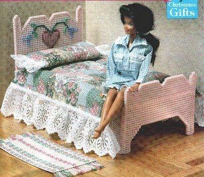 cama romntica de barbie labores de esther todo para barbie