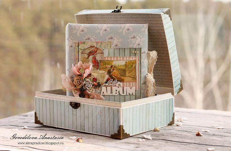 Интернет-магазин товаров для скрапбукинга ScrapMan: Вдохновение от Анастасии Городиловой. Ретро - альбом.