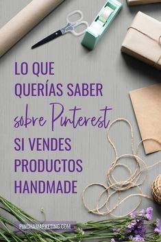 Pinterest Marketing para vender Productos Handmade