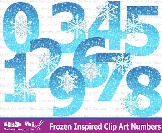Frozen Clip art Numbers, Frozen birthday, Frozen Party, Frozen Inspired, Frozen Clip Art, Birthday Party - INSTANT DOWNLOAD on Etsy, $6.60 AUD