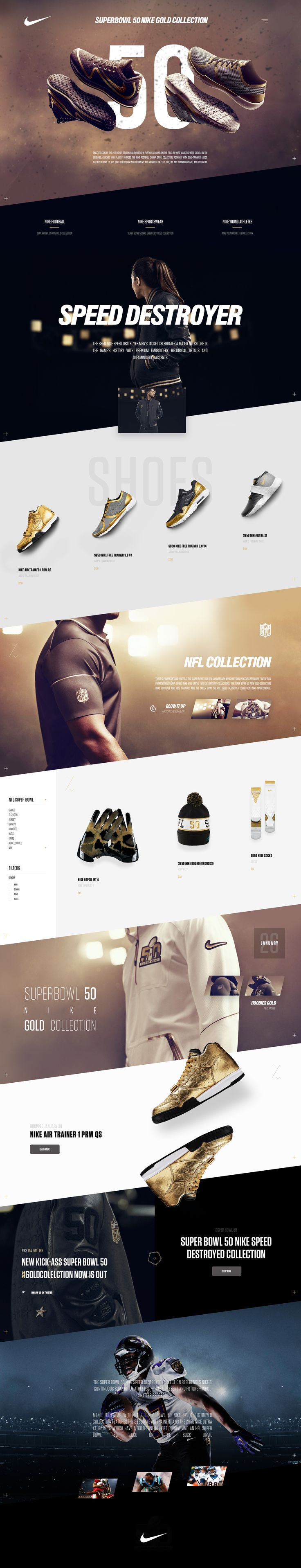 Superbowl 50 Nike Gold Collection.