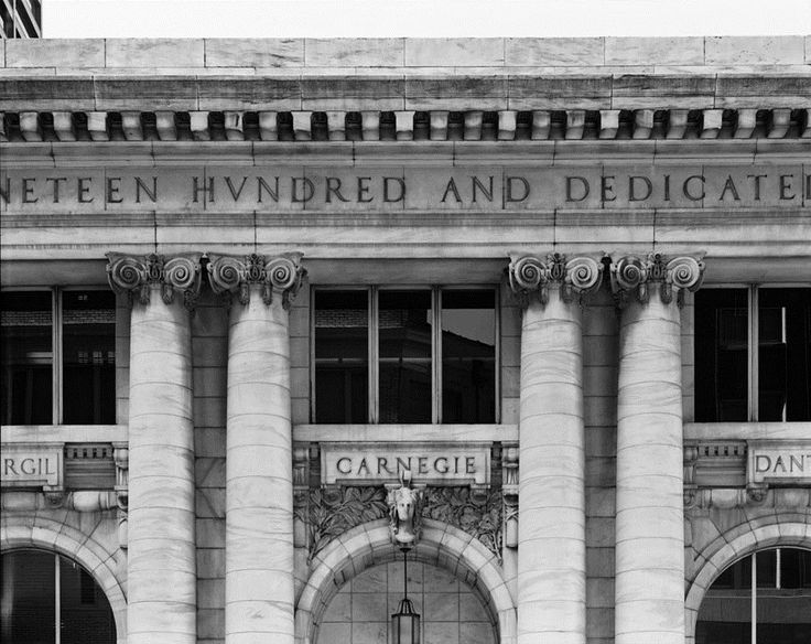 sadly demolished.... North Front Details of the Carnegie Library Atlanta - US Library of Congress