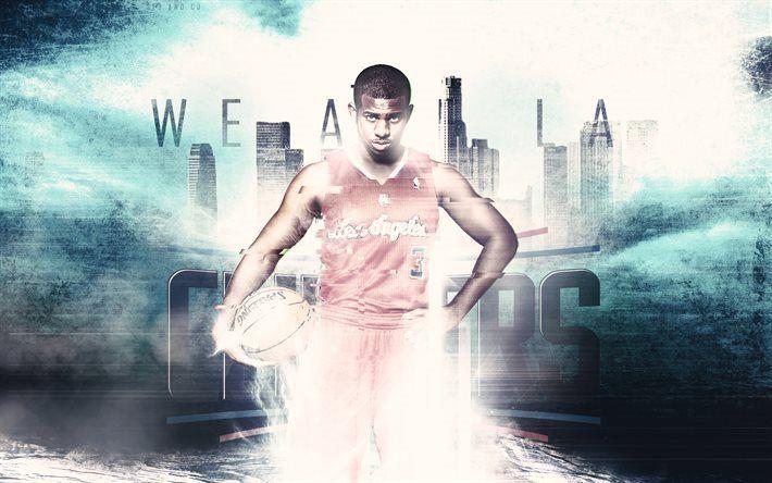 Scarica sfondi Chris Paul, fan art, LA Lakers, NBA, i giocatori di basket, i Los Angeles Clippers