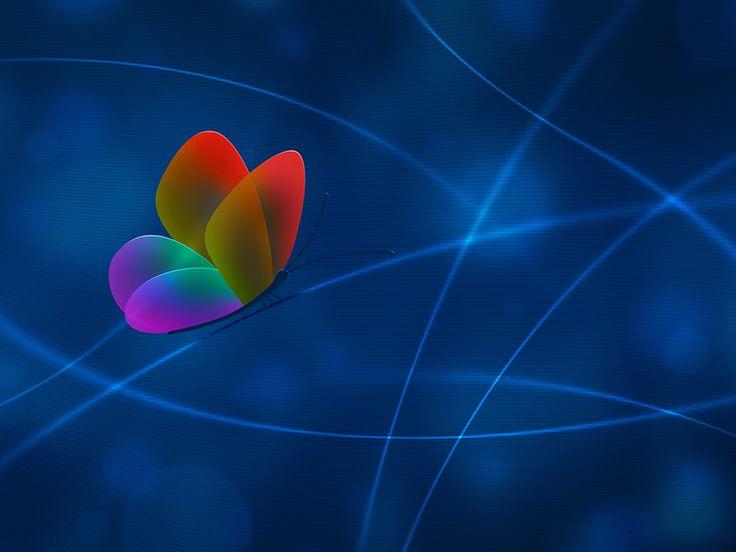 Rainbow Butterfly (Обои)