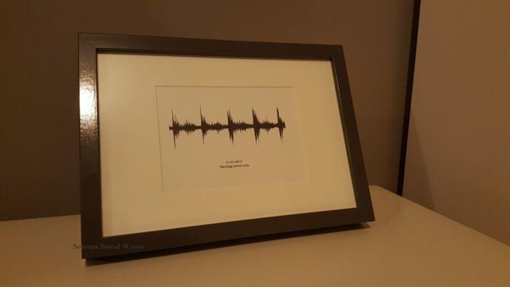 Geluidsgolven van een geluid. Voorbeeld: Hartslag baby's eerste echo (A5) | Producten | Sonoma Sound Waves