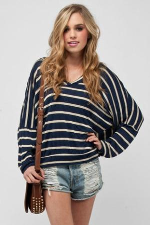 I have this shirt.: Navy Stripes, Style, Clothing, Cute Outfits, Stripes Hoodie, Comfy And Cute, Vacations Outfits, Blue Stripes Shirts, Leather Bags
