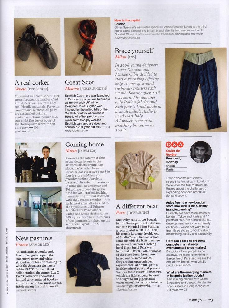 Tartan Scarf in Monocle Magazine 2011
