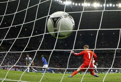 Il 2-0 in Italia-Germania. #Euro2012 #Balotelli