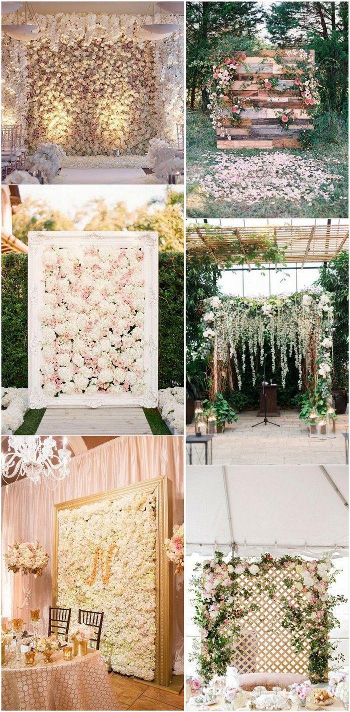 romantic flower wall wedding backdrop ideas #weddingdecor #weddingceremony #weddingideas
