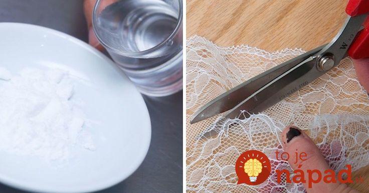 Máte doma starú záclonu, alebo čipku? Vyrobte si z nej pomocou obyčajného kukuričného škrobu, túto praktickú vec!