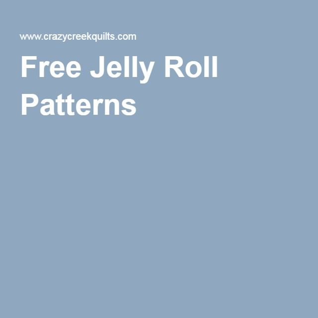 Here is a large list of free jelly roll patterns.