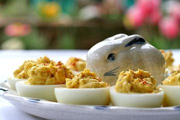 East Meets West for Easter... Aleppo Pepper Deviled Eggs