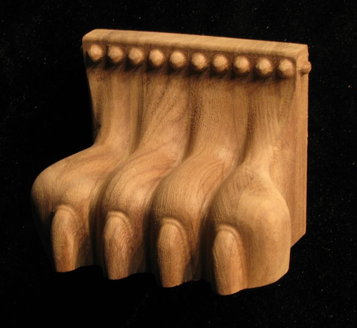 Wood Carved Lion Paw - Plinth