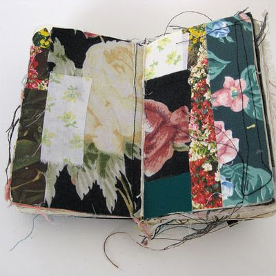 fabric sketchbook by Alison Worman http://www.alisonworman.com/SKETCHBOOKS