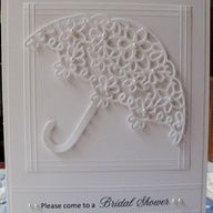 Bridal Shower Quilled Card: Quilling Cards, Cards Quilling, Card Quill, Quilled Card, Quill Card, Bridal Shower Cards, Umbrellas Card, Art Quill, Bridal Showers Card