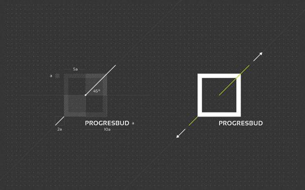 Progresbud #branding #design #logo #print #pleo