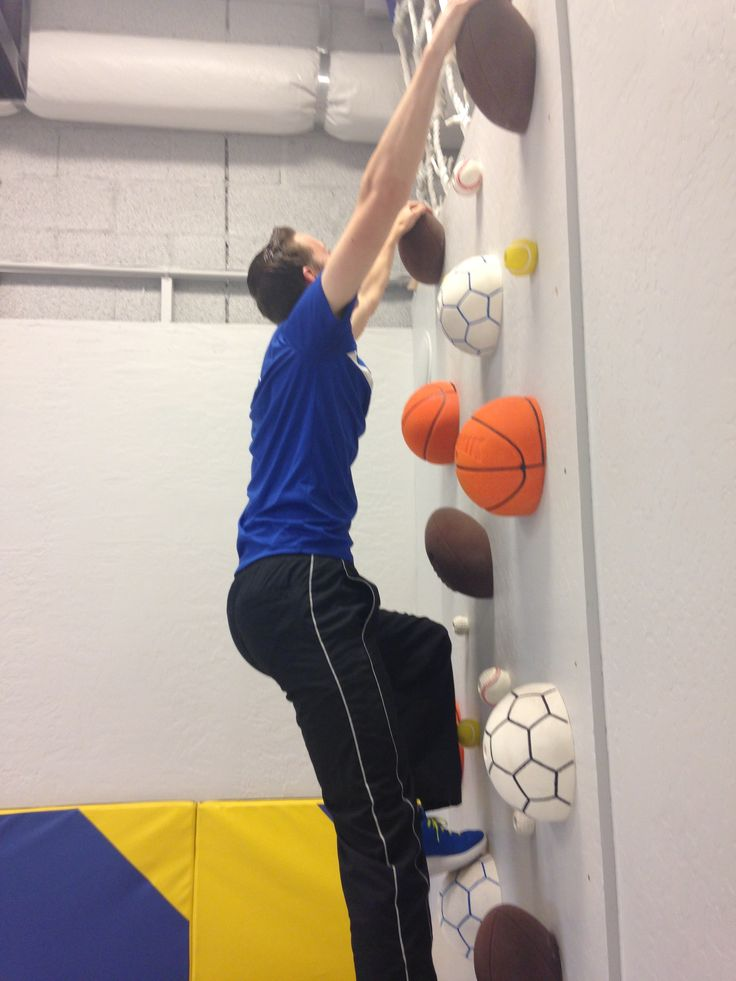 Crawling on the ceiling!? No way;) Check out our sweet ball wall! Sportball Scottsdale Gym  www.sportball.us