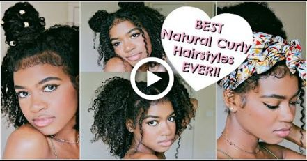 BEST QUICK & EASY Hairstyles for ALL Natural and Curly Hair! (SUMMER 2018)