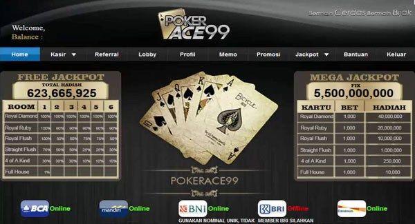 pokerace99 | Poker, Jackpot, Memo
