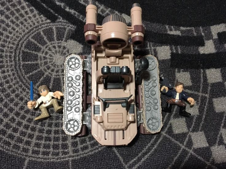 Lukes Landspeeder W/ Han Solo - Pull Lever to transform. Star Wars Galactic Heroes. Comes with vehicle, Luke and Han! | eBay!