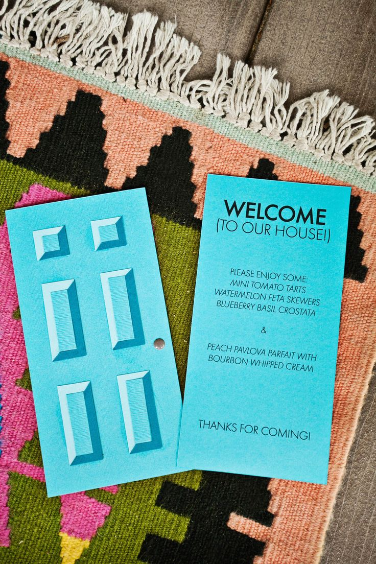 Make Your Own Paper Door For A Party Invite Or Menu (click Through For  Template