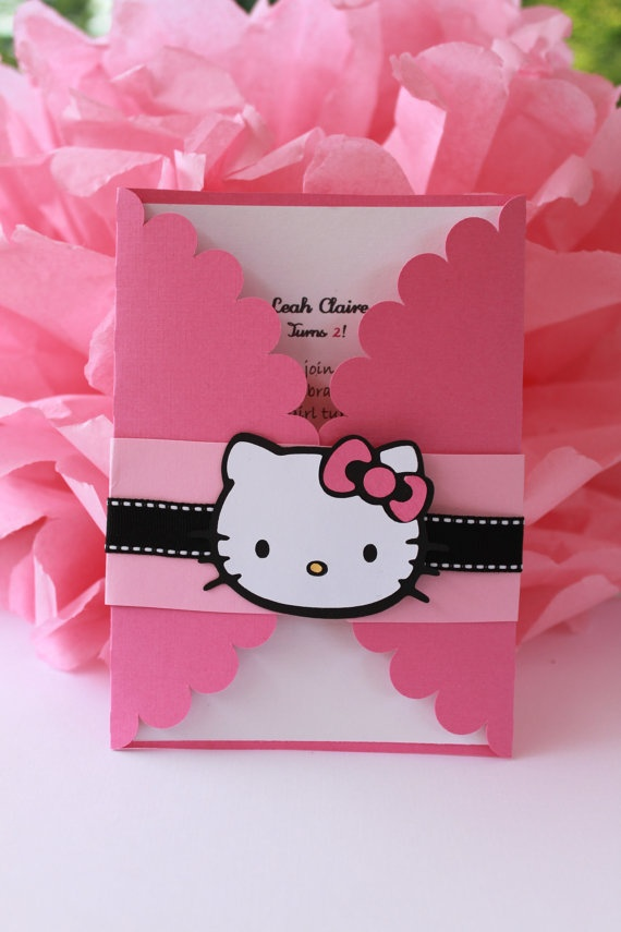 Hello Kitty Invitations Set of 12.... @Sarah Chintomby Mackenzie PLEASE PLEASE PLEASE, whenever you have a bachelorette party, let these be the invites!