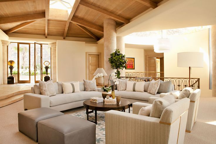 VINTAGE PALM DESERT :: BONESTEEL TROUT HALL. Awesome Great Room Seating