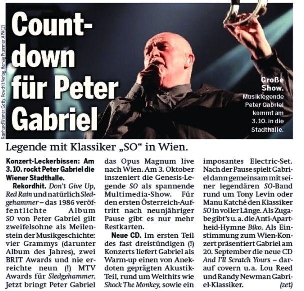 Peter Gabriel in ÖSTERREICH
