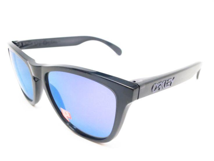 Oakley Frogskins OO9013-09 Black Polarized Sunglasses