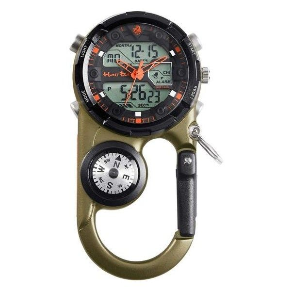 Whitetail Extreme Clip Watch   Legendary Whitetails ($90) ❤ liked on Polyvore featuring jewelry, watches, dial watches, oversized digital watches, analog digital watches, rugged watches and oversized jewelry
