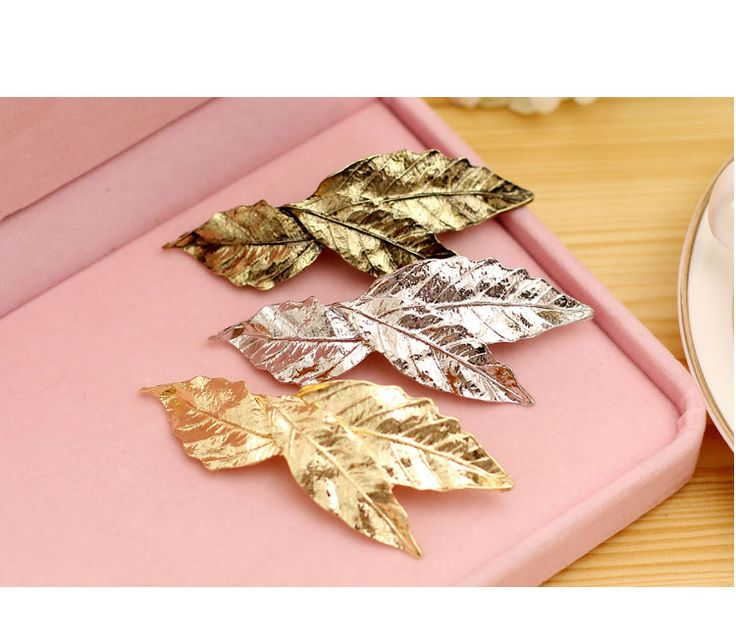 2016 Hot fashion vintage gold metal leaf Hairpins hair clips for women para bijoux jewelry wholesale