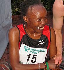 Tegla Laroupe (1973 - ) Tegla Laroupe held the womens marathon world record and won many prestigious marathons. Since retiring from running, she has devoted herself to various initiatives promoting peace, education and womens rights. In her native Kenya, her Peace Race and Peace Foundation have been widely praised for helping to end tribal conflict.